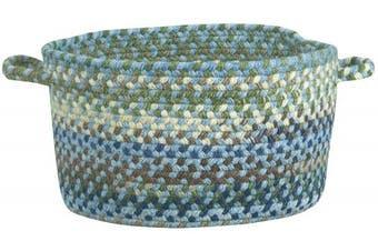 (30cm  x 19cm , Light Blue) - Capel Rugs Service Manchester Braided Basket, 0.3m x 19cm , Light Blue