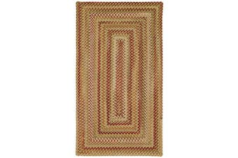 (0.9m x 0.9m, Gold Hues) - Manchester Gold Hues Multi Rug Rug Size: Concentric Square 90cm