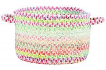 (50cm  x 30cm , Natural) - Capel Rugs Baby's Breath Braided Basket, 50cm x 30cm , Natural
