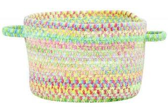 (30cm  x 19cm , Light Green) - Capel Rugs Baby's Breath Braided Basket, 30cm x 19cm , Light Green