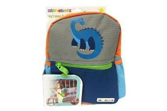 (Dinosaur) - Alphabetz Dino Toddler Backpack with Safety Harness Leash, Blue, Green, Grey, Universal Size, For Boy