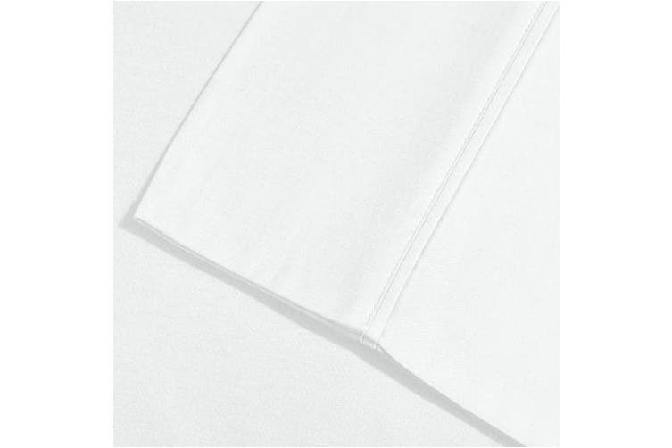 (Standard, White) - Superior 1500 Series 100% Brushed Microfiber Pillowcase Set of 2, Standard, White