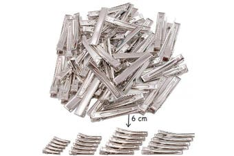 (6CM-2.2inches) - 50 pcs Lot Alligator Hair Clip Single Prong Pinch Clips Metal Alligator Clips Hair Pin Hairbow Accessory (6CM-2.2inches)
