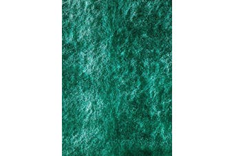 (0.6m x 0.9m, Teal Green) - Momeni Rugs Lustre Shag Collection, Hand Tufted High Pile Shag Area Rug, 0.6m x 0.9m, Teal Blue
