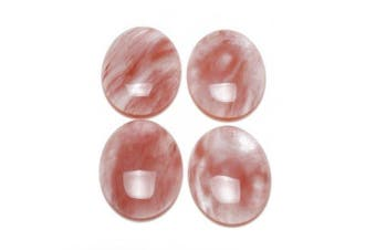 Cherry Quartz 30x40mm Oval-Shaped Flat-Backed Cabochon Wire-Wrapping CA16637-8