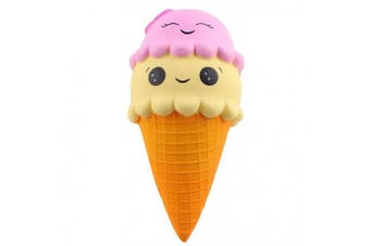 (9.1 Inch) - Anboor Squishies Ice Cream Cone Jumbo Slow Rising Kawaii Cute Super Big Squishies Scented Decompression Toys 1 Pcs