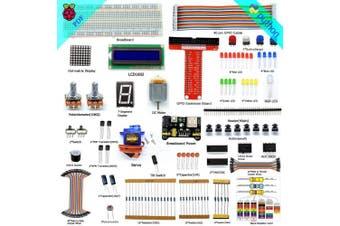 Adeept Super Starter Kit for Raspberry Pi 3, 2 Model B/B+, LCD1602, Servo, Motor, C and Python Code, Beginner/Starter Kit with User Manual/Guidebook