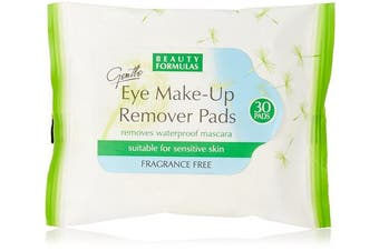 Beauty Formulas Eye Make Up Remover Pads, 30-Piece