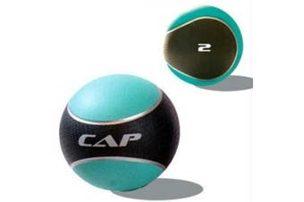 (0.9kg, Teal) - Gold's Gym Utility Bench and CAP Barbell Rubber Medicine Ball Value Bundle