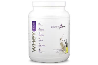 PrettyFit All-Natural Whey Protein Isolate - 24 Servings - Protein Powder for Women - 100 Calories, 0 Sugars, _1g Carbs, Gluten-Free, w/ Digestive Enzymes (Natural Vanilla)