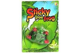 Sticky Tree Frog Toy - Sticks to Surfaces and Objects