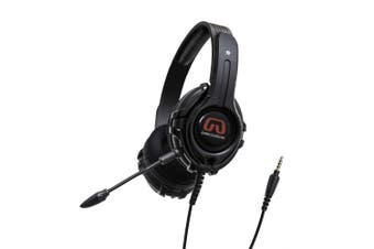 (Stereo) - GamesterGear Stereo PC PS4 Gaming Headset, Online Chat, Headphone with Detachable Micophone, Black OG-AUD63084