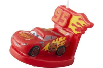 Wilton Industries 2811-7110 Disney Pixar Cars 3 3 Birthday Candle, Assorted