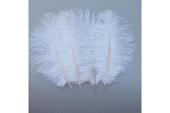 (white) - ADAMAI 10PCS Natural 20cm - 25cm Ostrich Feathers Plume for Wedding Centrepieces Home Decoration (white)