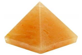 (Peach (Carnelian), BLACK GIFT POUCH) - Harmonise Carnelian Orgone Pyramid Reiki Healing Crystal Energy Generator Décor Spiritual Gift