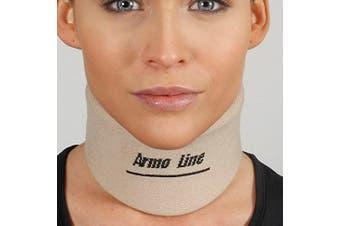 (S) - ArmoLine Nelson Neck Collar Plastazote Basic Support Disc Hernia Osteoarthritis Brace Medical Grade Small Medium Large Men Women Cervical Posture (S)