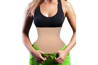 (Large, Beige) - Women Seamless Control Waist trainer Corset to Wear All Day Cincher Breathable Tummy Control Belt