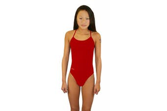 (26, Red) - Adoretex Girls Womens Tie-Back One Piece Swimsuit