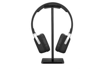 (Black) - Headphone Stand Headset Holder New Bee Earphone Stand with Aluminium Supporting Bar Flexible Headrest ABS Solid Base for All Headphones Size (Black)