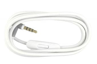 (White) - Replacement Audio Cable Cord Wire with In-line Microphone and Control For Beats by Dr Dre Headphones Solo/Studio/Pro/Detox/Wireless/Mixr/Executive/Pill (White)