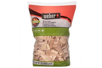 Weber Apple Wood Chips, 192 Cu. In. bag