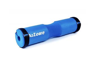 (blue (with tighten belt)) - A2ZCARE Squat Pad Fits Olympic Weightlifting Bar with 2 Belts for Secure & Nonslip - Comfortable Thick Foam Barbell Pad for Squats, Lunges & Hip Thrusts - Protect Neck & Shoulder