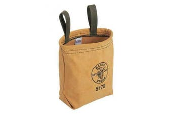 KLEIN TOOLS 5179S Water-Repellant Canvas Pouch - Snap G0588905