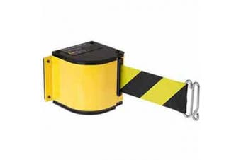 Lavi Industries 50-3016M-YL-18-SF Quick Mount Safety Barricade, 18 ft. Retractable Belt Extension - Yellow
