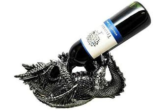 ANCIENT DRAGON WINE GUZZLER HOLDER KITCHEN DECOR RESIN FIGURINE