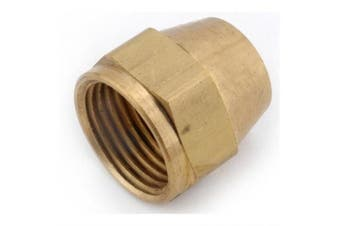 (1.3cm  Tube OD) - Anderson Metals Brass Tube Fitting, Short Flare Nut, 1.3cm Tube OD