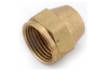 (1.6cm  Tube OD) - Anderson Metals Brass Tube Fitting, Short Flare Nut, 1.6cm Tube OD