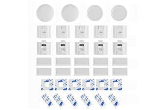 Linkax Baby Magnetic Locks Safety Cabinet Lock Set (10 Locks + 2 Keys)