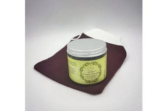 New Natural Moroccan Black Soap (Beldi) With Eucalyptus Essential Oil Plus Free Premium Kessa Exfoliation Glove - Best Natural Exfoliant Formulated By Skin Experts - Removes Dead Skin Cells - Cleanses Skin Impurities - Regulates Excessive Oily Skin - U ..