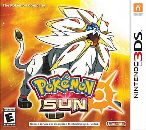 Pokemon Sun (Nintendo 3DS) Set out on an adventure as a Pokemon Trainer in the new Alola Region.Choose one of the three new Partner Pokemon – Rowlet, Litten and Region.Chocover the mystery behind the new Legendary Pokemon Solgaleo and Lunala. In the Pokemon Sun and Pokemon Moon games, embark on an adventure as a Pokemon Trainer and catch, battle, and trade all-new Pokemon on the tropical islands of the Alola Region. Engage in intense battles, and unleash new powerful moves. Discover and interact with Pokemon while training and connecting with your Pokemon to become the Pokemon Champion! Set out on an adventure as a Pokemon Trainer in the new Alola Region. Choose one of the three new Partner Pokemon – Rowlet, Litten and Popplio. Discover the mystery behind the new Legendary Pokemon Solgaleo and Lunala. Discover new Pokemon to catch, battle and trade. ESRB Rating: RATING PENDING