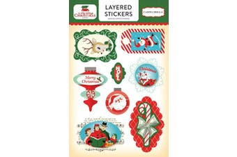 Carta Bella Paper Company A Very A Very Merry Christmas Layered Stickers