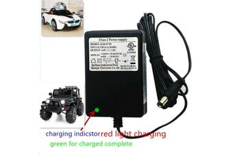6V Kids Powered Ride On Car Universal Charger with charging indicator-Applicable to a variety of children's electric baby carriage ride toy battery supply power adapter SL06-07-09 6V=1.0A
