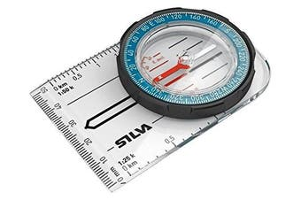 (N/A, Blue) - Silva Field Unisex Adventure Gear Compass - Clear One Size
