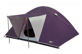 High Peak Texel 3 Grey/purple Dome Tent Purple Plaume/hellgra
