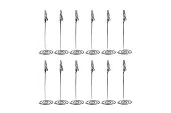 (Silver) - Artliving 12pcs Place Card Holder Memo Holder Clip Photo Holder Table Number Holder Sliver