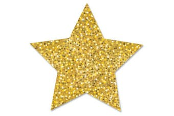 (10cm , Gold) - Ashley Sparkle Decorative Magnetic Star