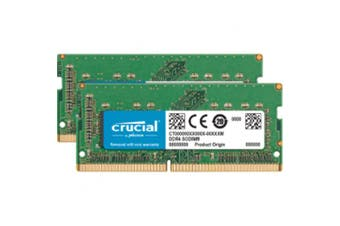 Crucial 16GB kit (8GBx2) DDR4 2400 MT/s  (PC4-19200) CL17 SODIMM 260pin 1.2 V for 2017 27 inch iMac