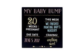 Pearhead Baby Bump Chalkboard, Black