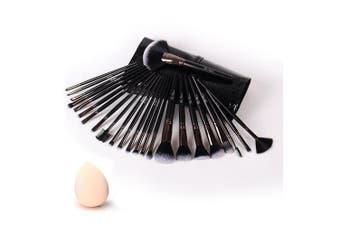 (24 Pieces) - Makeup Brushes 24pcs Makeup Brushes Set Kabuki Foundation Blending Brush Face Powder Blush Concealers Eye Shadows Make Up Brushes Kit with Bag