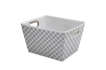 (gingham/grey) - Delta Children Deluxe Water-Resistant Rectangle Tapered Tote, Gingham/Grey