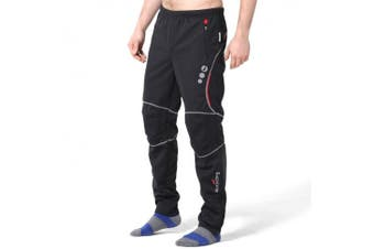 (WEIGHT:80-90kg HEIGHT:1.5m-1.8m 2XL, Black&Red) - 4ucycling Windproof Athletic Pants for Outdoor and Multi Sports