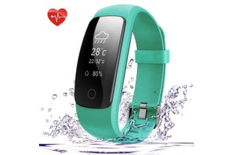 (Green) - Fitness Tracker, 007plus D107Plus Heart Rate Monitor Fitness Smart Watch Activity Tracker with Sleep Monitor IP67 Waterproof Pedometer Smart Wristband