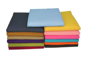 (RUSSET) - Bean Products Zabuton Handcrafted Meditation Cushions - Yoga - Multiple Colours and Fabrics - Made In USA