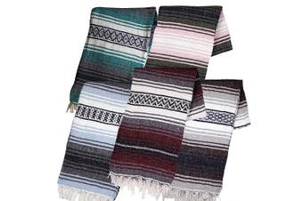 (Assorted) - Authentic Mexican Yoga Falsa Blanket (Assorted)