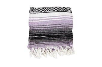 (Light Purple) - Canyon Creek Authentic Mexican Yoga Falsa Blanket (Light Purple)