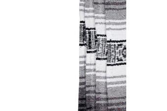 (Grey) - Canyon Creek Authentic Mexican Yoga Falsa Blanket (Grey)